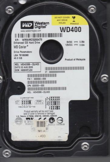 WD400BB-22JHC0, DCM HSBHNTJCH, Western Digital 40GB IDE 3.5 Hard Drive
