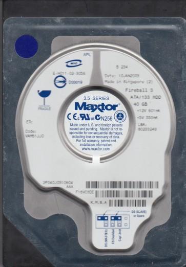 2F040J0, Code VAM51JJ0, KMBA, Maxtor 40GB IDE 3.5 Hard Drive