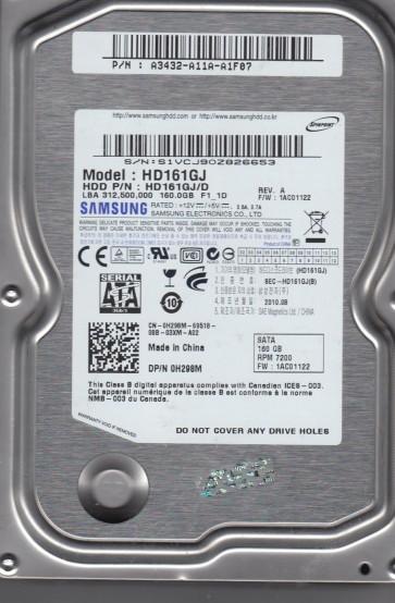 HD161GJ, HD161GJ/D, FW 1AC01122, Samsung 160GB SATA 3.5 Hard Drive