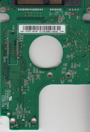 WD5000BEVT-60ZAT1, 2061-701572-400 AB, WD SATA 2.5 PCB