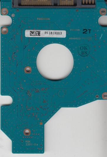 MK8046GSX, HDD2D93 D UL02 T, G002217A, Toshiba SATA 2.5 PCB