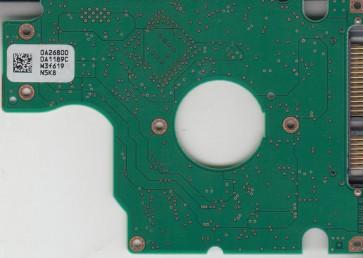 HTS541080G9SA00, 0A26800 DA1189C, 0A27474, DA1519, Hitachi SATA 2.5 PCB
