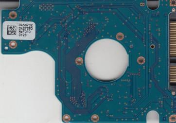 HTS545050B9A300, 0A58732 DA2739D, PN 0A57915, Hitachi 500GB SATA 2.5 PCB
