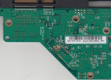 WD4000AAJS-65YFA0, 2061-701477-100 AD, WD SATA 3.5 PCB