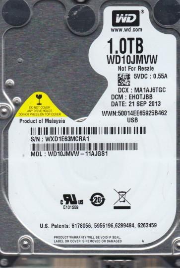 WD10JMVW-11AJGS1, DCM EHOTJBB, Western Digital 1TB USB 2.5 Hard Drive