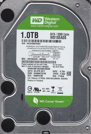 WD10EADS-00P6B0, DCM EHNNNT2CHB, Western Digital 1TB SATA 3.5 Hard Drive