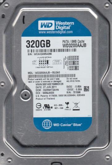WD3200AAJB-00J3A0, DCM HGRNHT2AHN, Western Digital 320GB IDE 3.5 Hard Drive