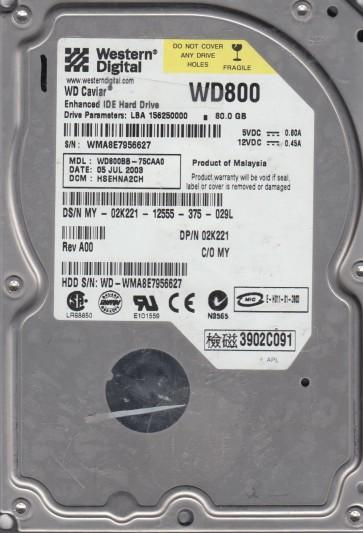 WD800BB-75CAA0, DCM HSEHNA2CH, Western Digital 80GB IDE 3.5 Hard Drive