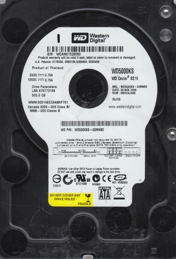 WD5000KS-00MNB0, DCM HBHCAJAAB, Western Digital 500GB SATA 3.5 Hard Drive