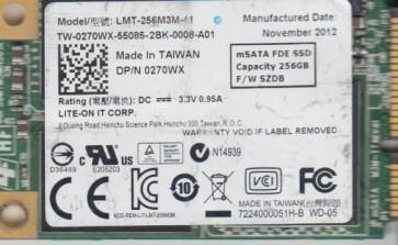 Dell 256GB LMT-256M3M, 0270WX, SZDB, mSata 1.8 SSD