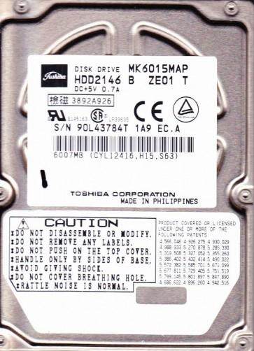 MK1017GAP, A0/A4.01A, HDD2151 Y ZE01 T, Toshiba 10GB IDE 2.5 Hard Drive