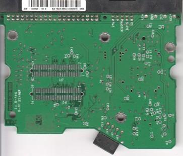 WD1200BB-00DAA3, 2061-001128-100 D, WD IDE 3.5 PCB