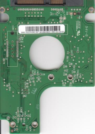 WD2500BEKT-00F3T0, 2061-701574-D01 01P, WD SATA 2.5 PCB