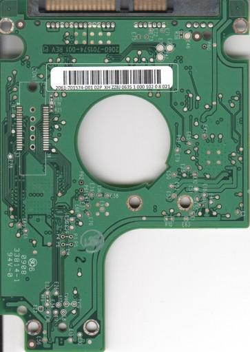 WD1600BEKT-66F3T2, 2061-701574-D01 02P, WD SATA 2.5 PCB