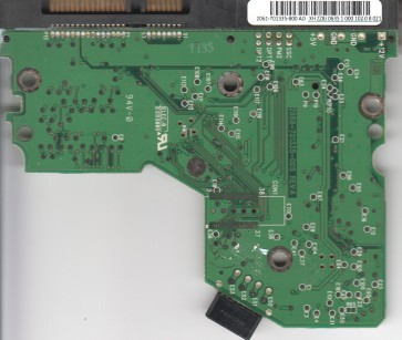 WD1600JS-00MVB1, 2061-701335-B00 AD, WD SATA 3.5 PCB