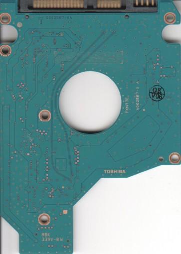 MK3256GSY, HDD2E67 F VL01 T, G002587-0A, Toshiba 320GB SATA 2.5 PCB