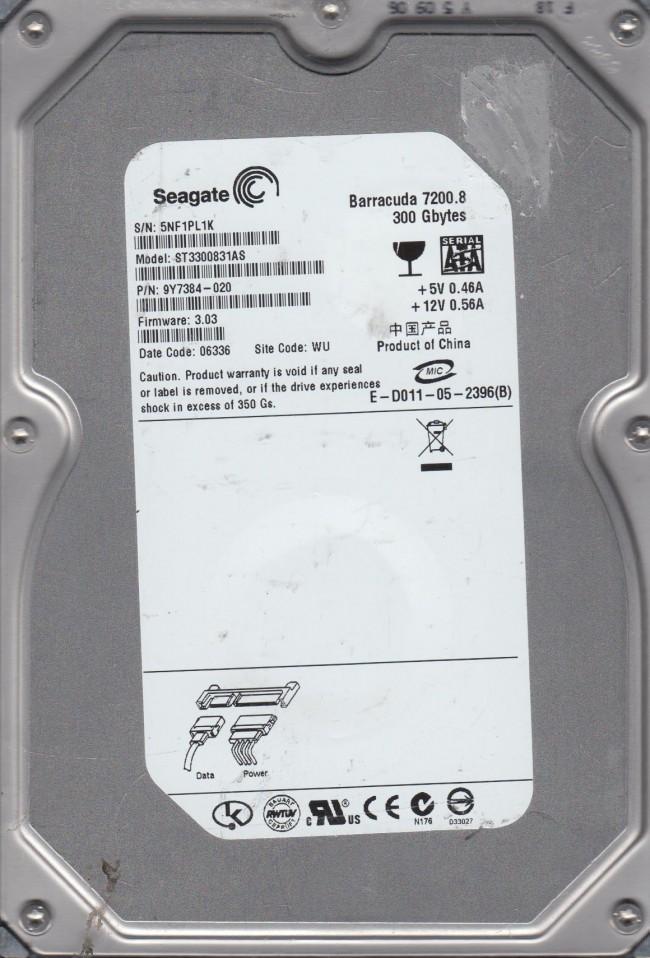 "Amazon. Com: seagate barracuda st3300831as 300 gb 3. 5"" 7200 rpm."