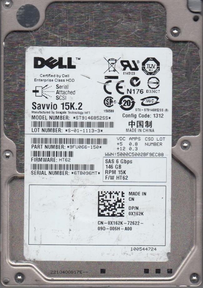 """Dell Savvio 146GB 15K RPM 2.5/"""" SAS Hard Drive ST9146852SS 9FU066-150"""