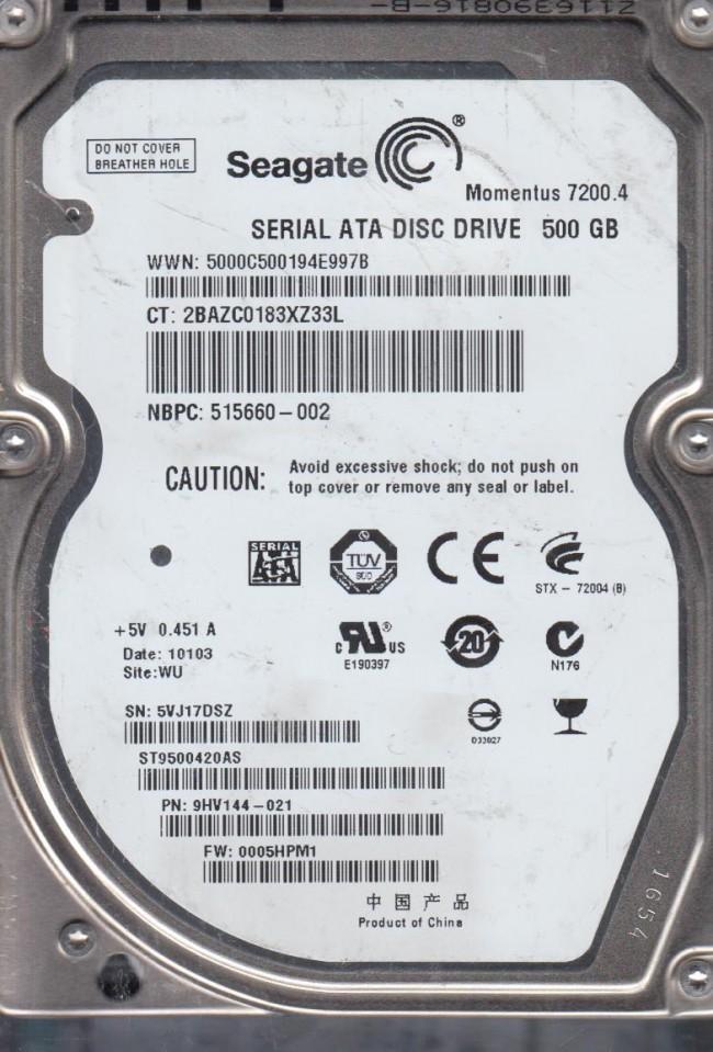 9G2003501 Seagate 9G2003-501 2.5GB IDE DRIVE