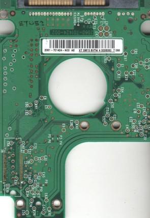 WD400BEVS-75LAT0, 2061-701424-N00 AE, WD SATA 2.5 PCB