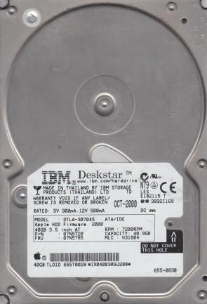 DHEA-38451 P//N: 00K0394 IBM 8.4GB HDD MLC: E67648