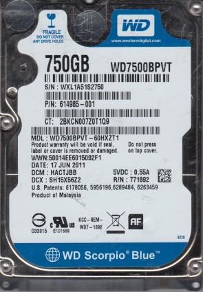 """Western Digital WD600VE-11KWT0 WD Scorpio WD600VE 60GB IDE 2.5/"""" Hard Drive"""