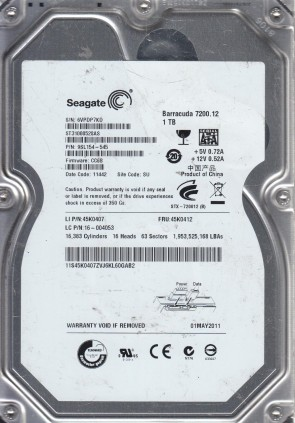 ST31000340NS FW NA01 Seagate 1TB SATA 3.5 Hard Dri KRATSG PN 9CA158-038 9QJ