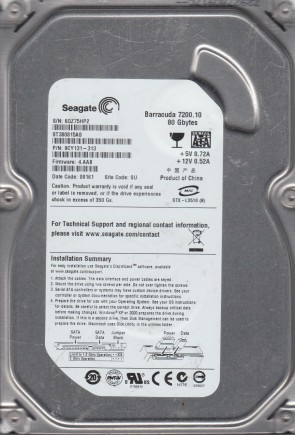 FW HP64 PN 9YP131-022 Seagate 250GB SATA 3.5 Hard Drive SU ST3250312AS Z2A