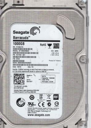 Seagate 1TB SATA 3.5 Hard Drive SU PN 9YN162-021 ST1000DM003 S1D FW HP16