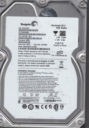 ST3160310CS Seagate SATA 3.5 PCB 100504356 L 9GC131-500 SC14