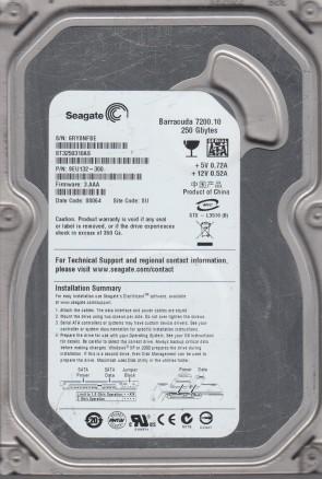 FW CC35 SU 6VP PN 9SL153-301 Seagate 750GB SATA 3.5 Hard Drive ST3750528AS