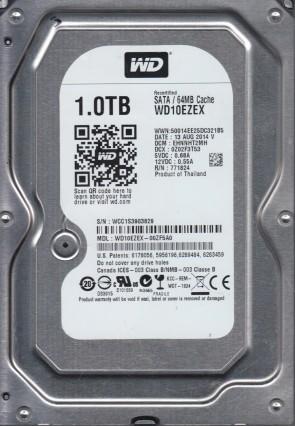 WD10EZEX-60ZF5A0 Western Digital 1TB SATA 3.5 Bsectr HDD DCM EHRNKT2CH