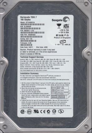 Seagate 40GB IDE 3.5 Hard Drive WU PN 9W2005-314 5JX FW 3.06 ST340014A