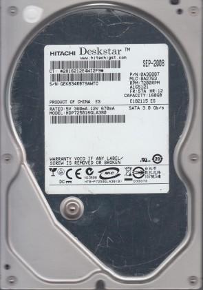 Hitachi 250GB SATA 2.5 Hard Drive HTS543225A7A384 PN 0J13142 MLC DA3734