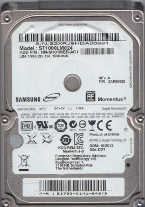 ST1000LM024 FW 2AR10001 HN-M101MBB//ASU Samsung 1TB SATA 2.5 Bsectr HDD