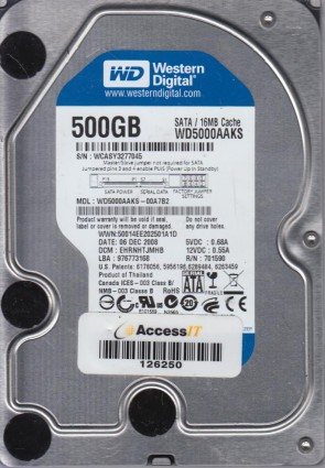 HCACAJAAB Western Digital Enterprise WD5000YS-01MPB1 500GB DCM