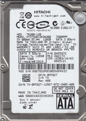Hitachi S-ATA III 2TB HUA723020ALA640 Ul