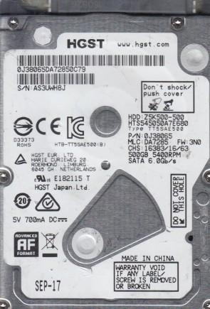 HTS543225A7A384 Hitachi 250GB SATA 2.5 Hard Drive MLC DA3734 PN 0J13142