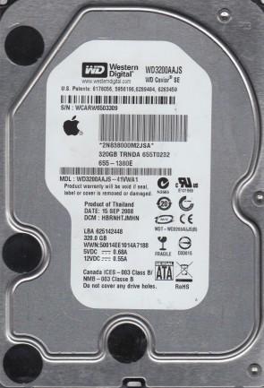 WD3200AAJS-41VWA1, DCM HBRNHTJMHN, Western Digital 320GB SATA 3.5 Hard Drive