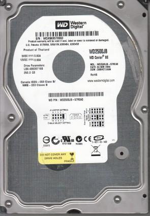 WD2500JB-57REA0, DCM DBBHCTJAAN, Western Digital 250GB IDE 3.5 Hard Drive