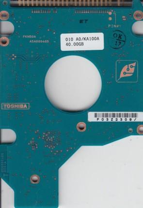 MK8026GAX, A0/PA005B, HDD2191 H ZK01 S, G5B000465000-A, Toshiba IDE 2.5 PCB