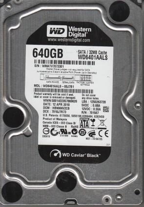 WD6401AALS-00J7B1, DCM HBNNNV2CB, Western Digital 640GB SATA 3.5 Hard Drive