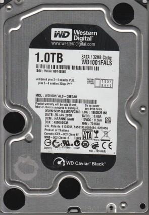 WD1001FALS-00E3A0, DCM HARNNTJAAB, Western Digital 1TB SATA 3.5 Hard Drive