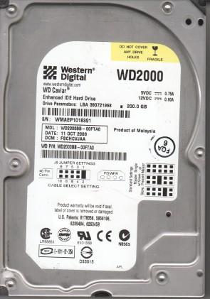 WD2000BB-00FTA0, DCM FSCHCVJAA, Western Digital 200GB IDE 3.5 Hard Drive