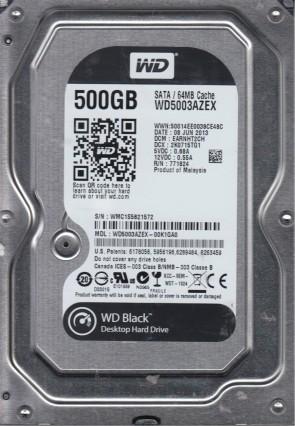 WD5003AZEX-00K1GA0, DCM EARNHT2CH, Western Digital 500GB SATA 3.5 Hard Drive