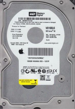 WD1600JS-40TGB0, DCM DSCANTJCAN, Western Digital 160GB SATA 3.5 Hard Drive