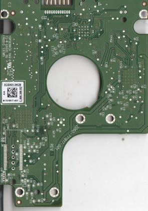 WD10TMVV-11TK7S2, 701817-401 AA, WD USB 2.5 PCB