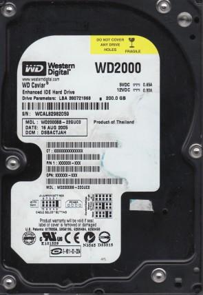 WD2000BB-22GUC0, DCM DSBACTJAH, Western Digital 200GB IDE 3.5 Hard Drive