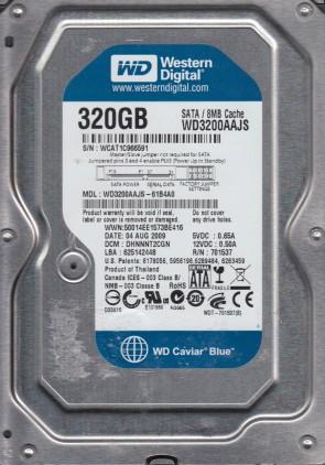 WD3200AAJS-61B4A0, DCM DHNNNT2CGN, Western Digital 320GB SATA 3.5 Hard Drive
