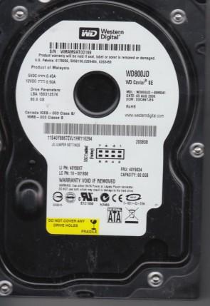 WD800JD-08MSA1, DCM DSCANTJEA, Western Digital 80GB SATA 3.5 Hard Drive